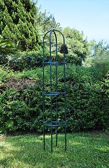 Yarti Garden Trellis Obelisk Metal Trellis With Sturdy Anti Rust Plastic  Kit Supporter Frame For
