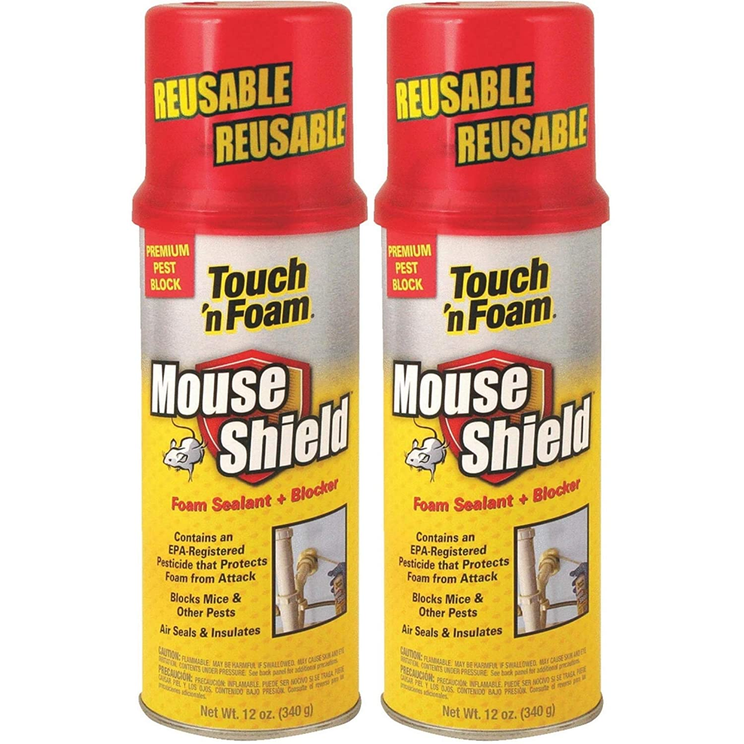 Touch-n-Foam 4001012506 Sealant Mouse Blocker, 12 oz 3 Pack