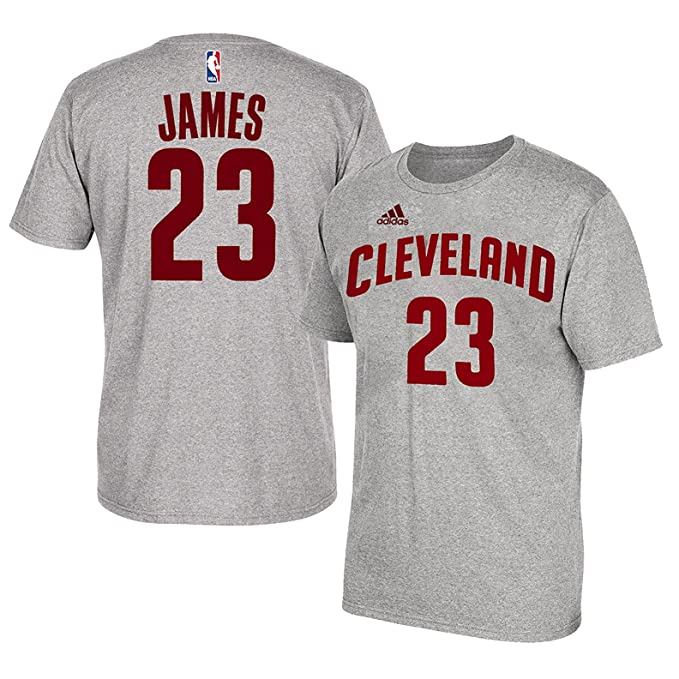 wholesale dealer 1b8d6 f3668 Lebron James Cleveland Cavaliers #23 Adidas Grey Name And Number Kids T  Shirt