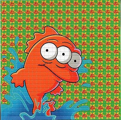 Amazon com: Mutant Fish Simpsons Design Psychedelic Blotter