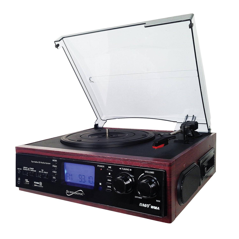 Supersonic SC-8002TR tocadisco: Amazon.es: Electrónica