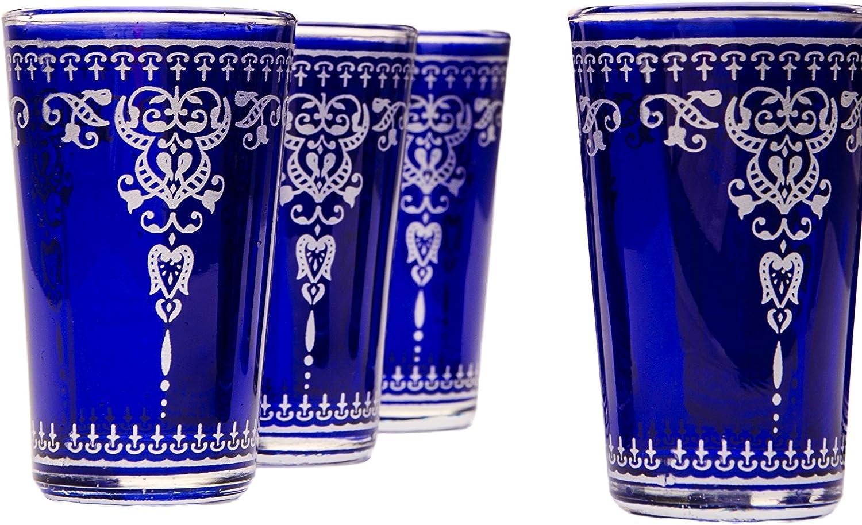 Orientalische verzierte Teegl/äser Set 6 Gl/äser Andalous Gr/ün silber Marokkanische Tee Gl/äser Set 6 teilig Deko orientalisch Farben auswahl 6 x Orientalisches Marokkanisches Teeglas verziert