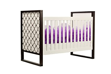 Twinkle 3 In 1 Crib In Two Tone, Espresso And White (Discontinued