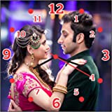 M&C Dream Gifts Love Couple Gift Wall Clock