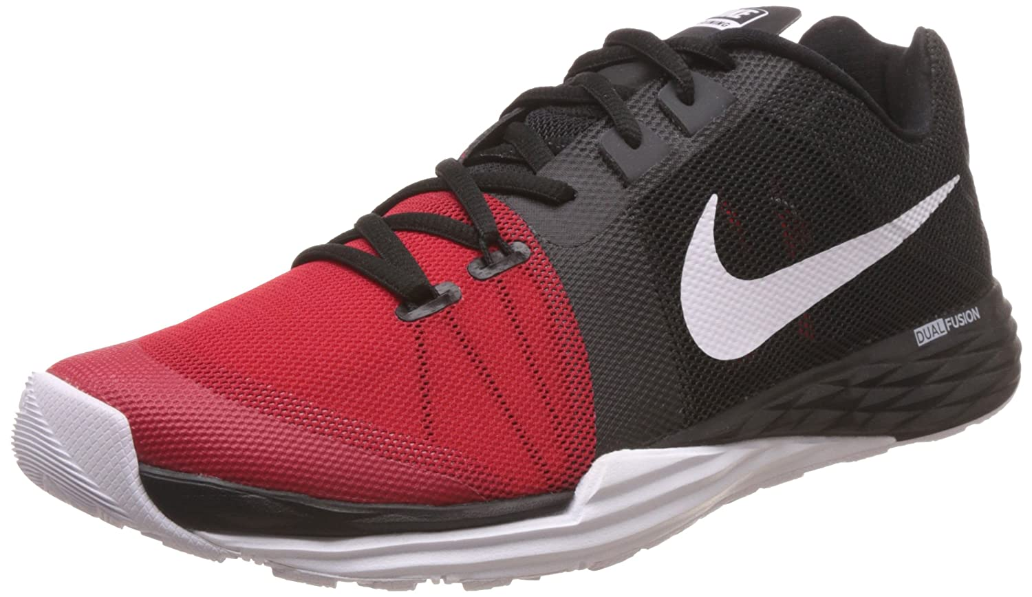 NIKE Men's Train Prime Iron DF Cross Trainer Shoes B014GMYMQA 9.5 D(M) US|Black/White/University Red/Anthracite