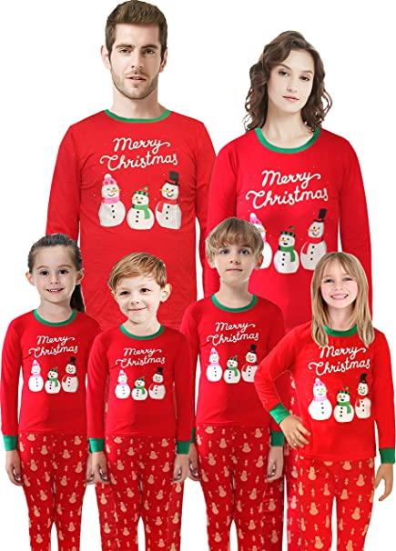 Toddler boy and girl matching christmas pajamas