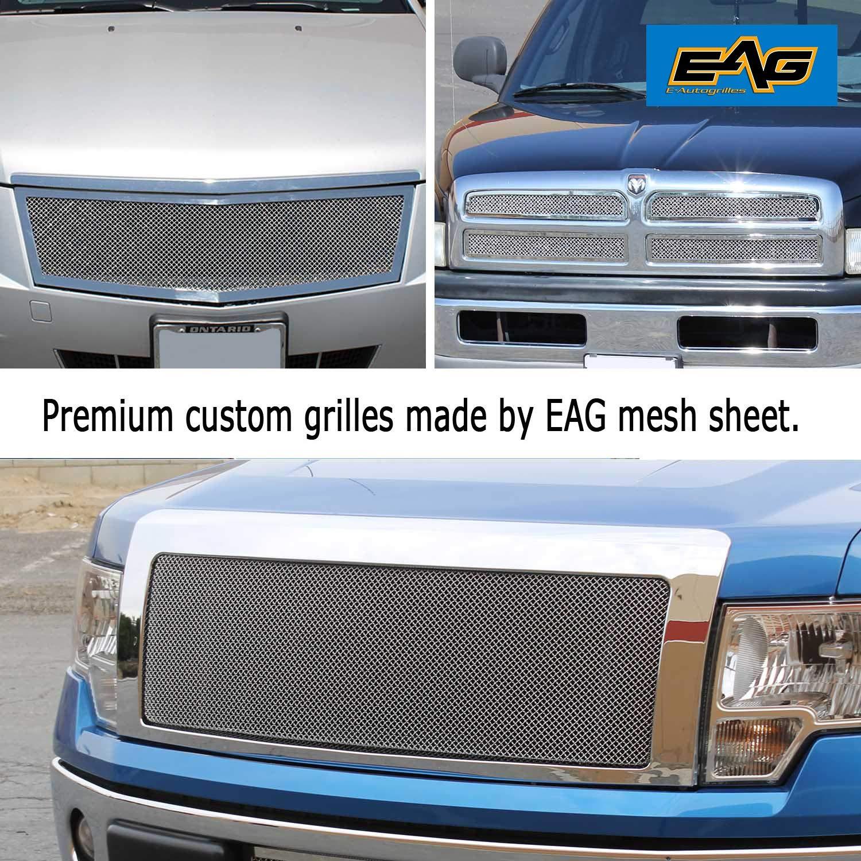 18x48 Chrome EAG Stainless Steel Woven Mesh Grille Sheet