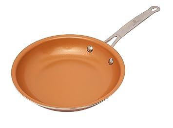 Sartén con revestimiento de cobre, cerámica y titanio de Palemiso, cerámica, cobre, 20 cm: Amazon.es: Hogar