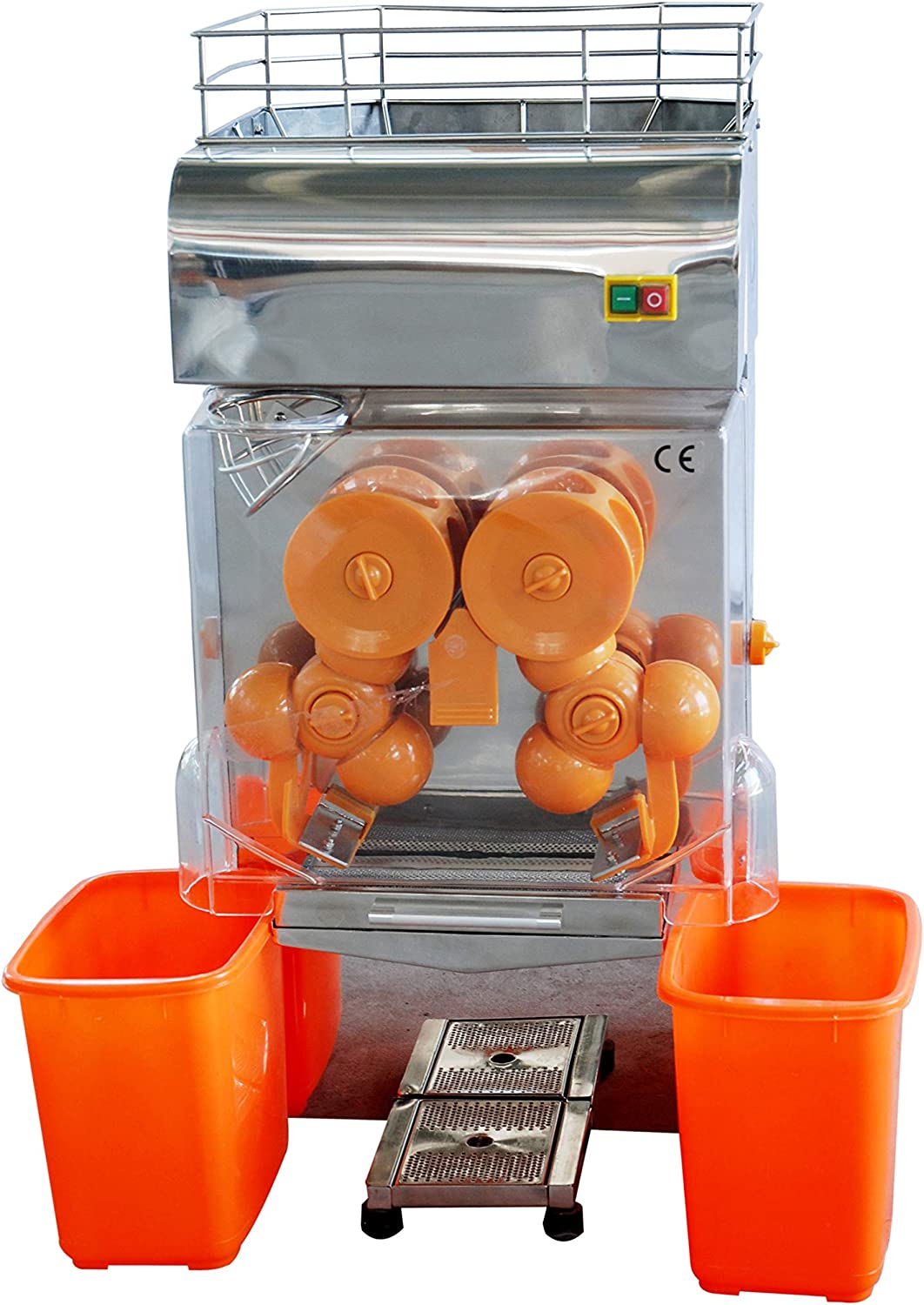 Orange Juicer Orange Squeezer juicer machine Electric Fruit Juicer Machine Commercial Orange Juicer Auto Feed Stainless Steel (CE&ETL certified)