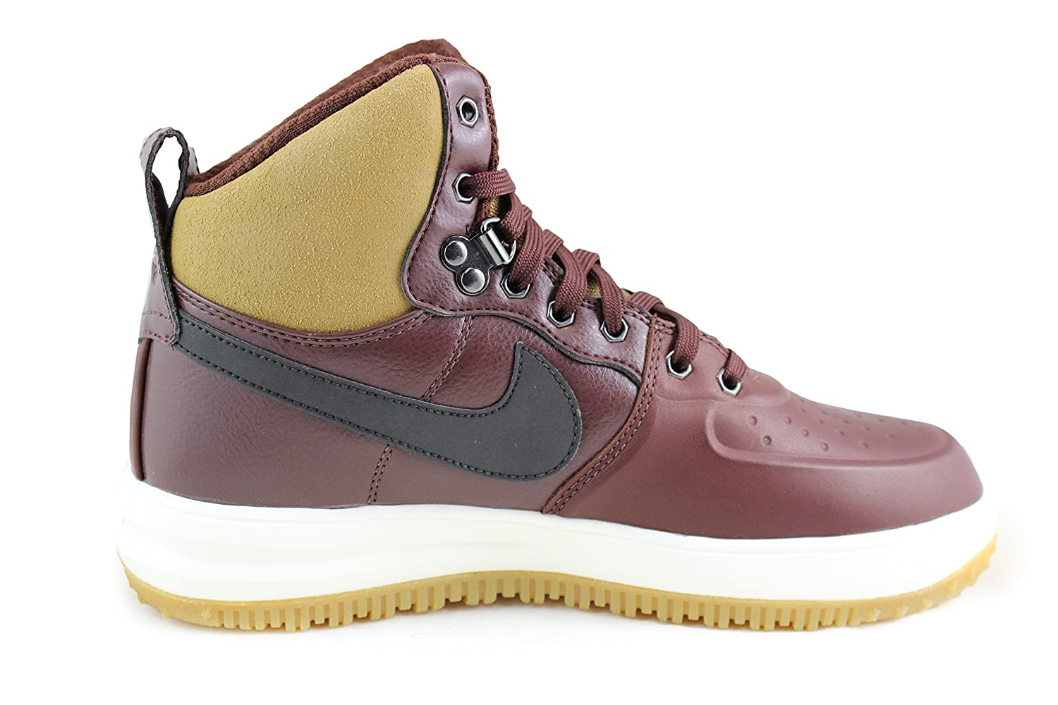 brand new 22640 7aded Amazon.com   Nike Lunar Force 1 Sneakerboot Boots GS Barkroot Brown Black  Size 5.0 Youth   Boots