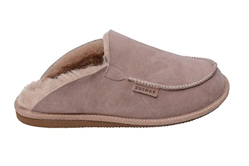 Rusnak Femmes Hommes En Peau De Mouton Doublure En Cuir Souple Pantoufles Laine Chaude Chaussures À La Maison 6RCBp0M
