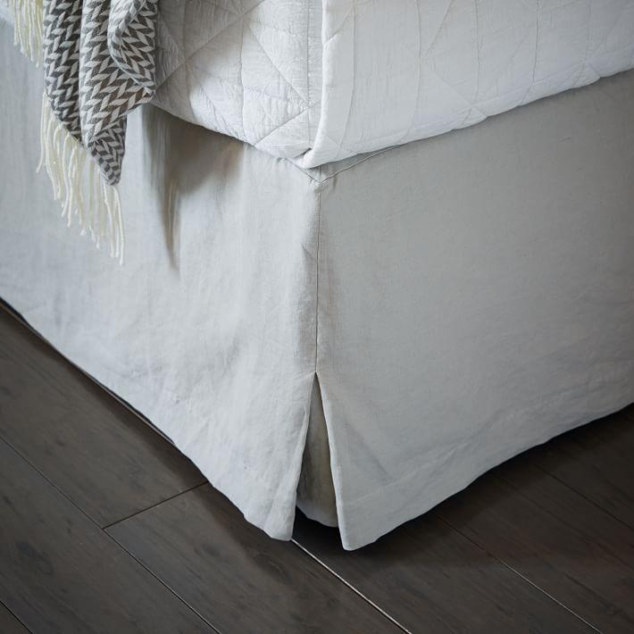 Belgian Flax Linen Bed Skirt | West Elm