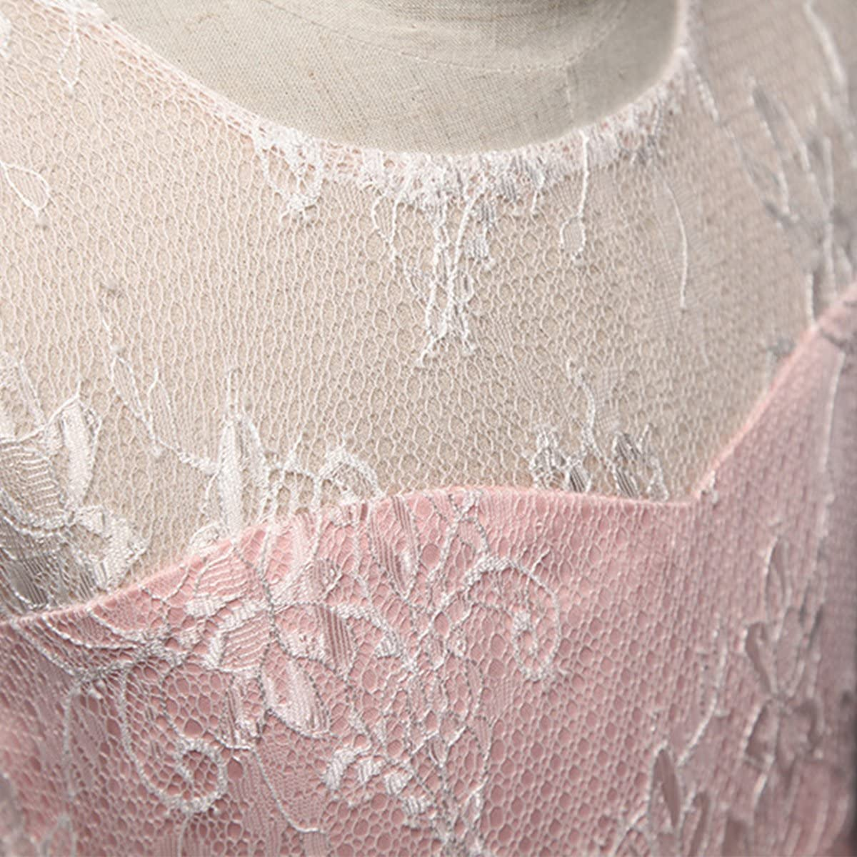 OBEEII Kid Girl Lace Flower Tutu Dress Floor Length Bridesmaid Wedding Communion Gown