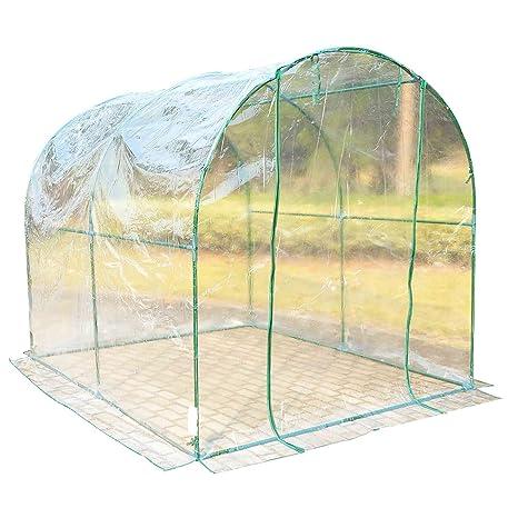 HOMCOM - Invernadero caseta acero plastico jardin terraza cultivo plantas (varias medidas), medidas