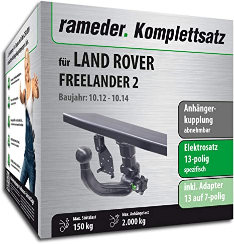 rameder Juego completo, remolque extraíble + 13POL Elektrik para Land Rover Freelander 2 (142929