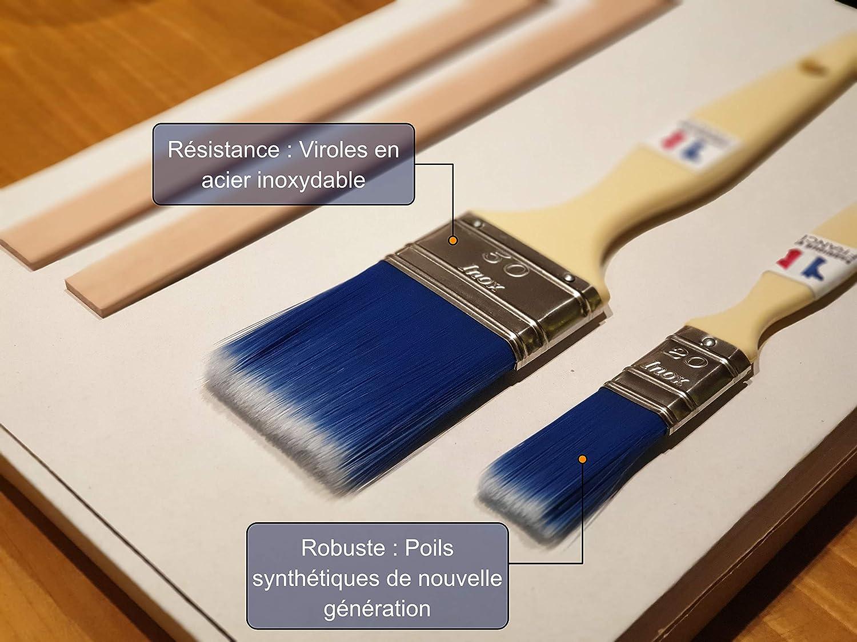 une paire de gants et deux m/élangeurs pour travaux de peinture pour mur bois Leo Market meubles et convient au contact alimentaire Kit de pinceaux 20-50 mm