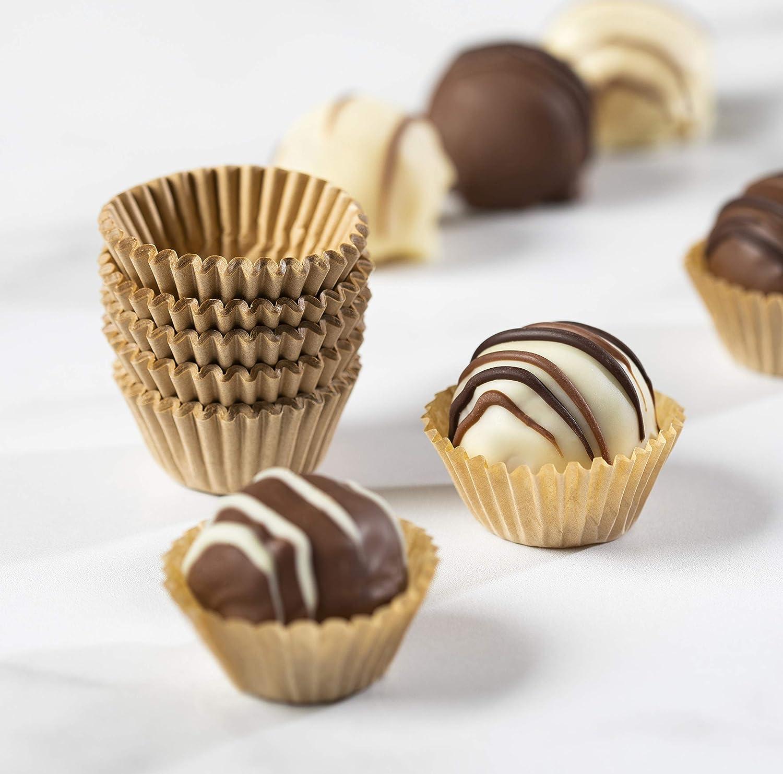 Amazon Com Kraft Beige Chocolate Paper Candy Cups No 4 1 X3 4 Natural Beige Kraft 200pcs Kitchen Dining