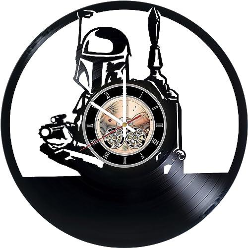 Boba Fett Vinyl Record Wall Clock