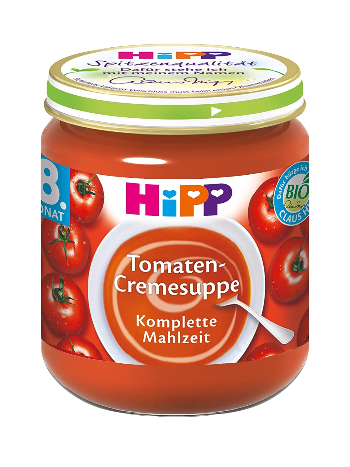 HiPP Tomaten-Cremesuppe, 6er Pack (6 x 200 g) 7930-01 Baby Kind