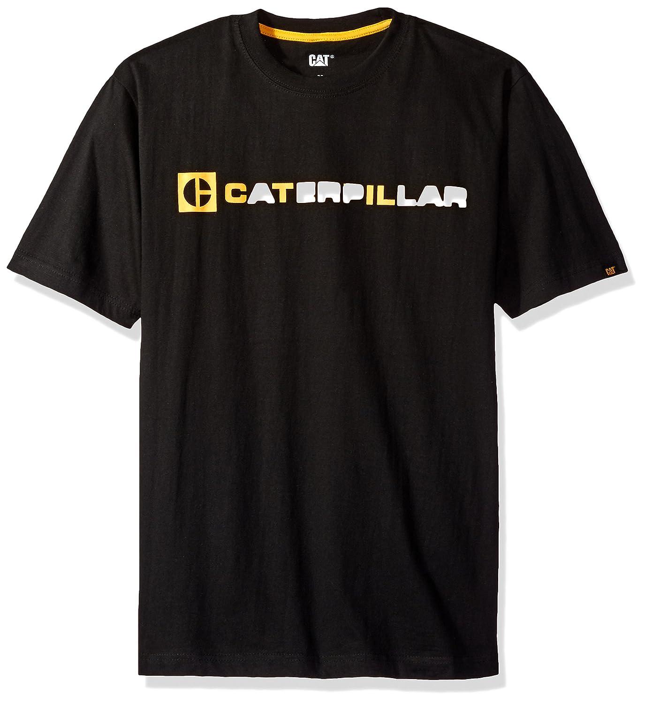 Caterpillar Men 's CブロックTシャツ B01MQWV87C L|ブラック ブラック L