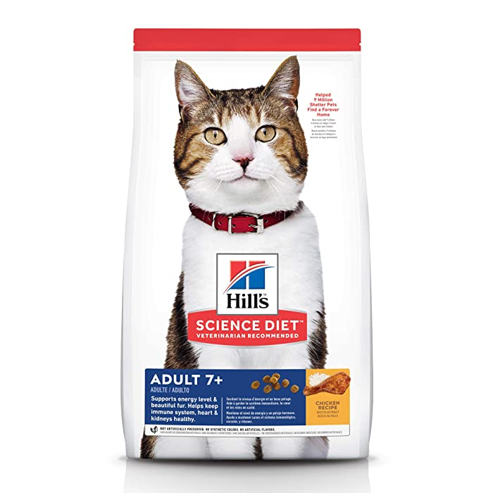 Hill's Science Diet Dry Cat Food, Adult 7+ for Senior Cats, Chicken Recipe