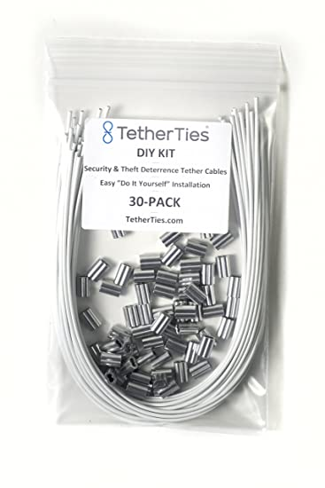 Amazon tetherties diy kit white 10 pack do it yourself kit tetherties diy kit white 10 pack do it yourself kit adjustable cable solutioingenieria Images