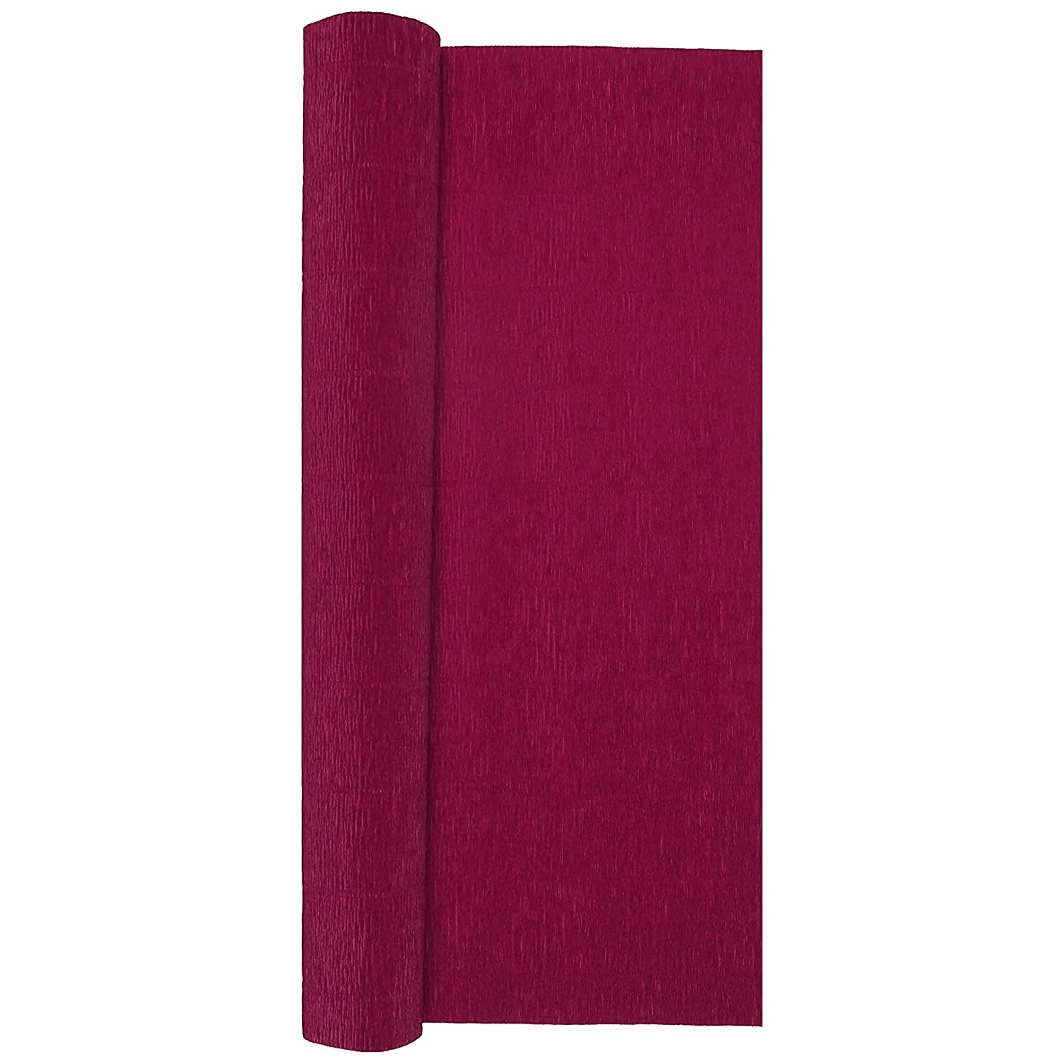 Heavy Italian 180 g Cardinal Red 13.3 sqft Crepe Paper Roll