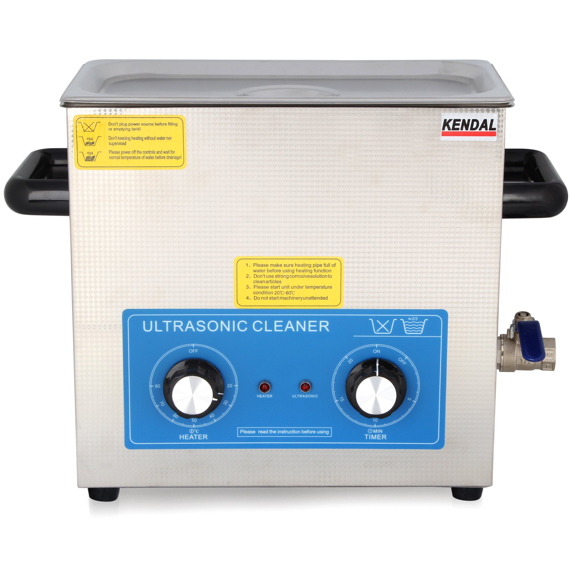 Kendal Commercial Grade 6 Liters 380 Watts HEATED ULTRASONIC CLEANER HB-36MHT