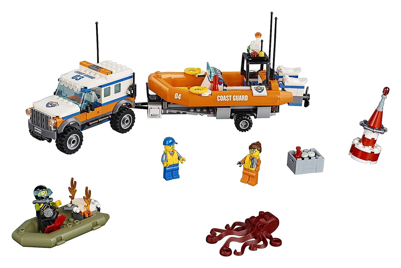 LEGO City Coast Guard Unidad de respuesta 4 x 4 (60165): Amazon.es:  Juguetes y juegos