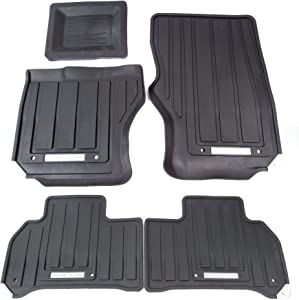 Genuine Land Rover VPLWS0190 Front and Rear Rubber Floor Mat Set for Range Rover Sport