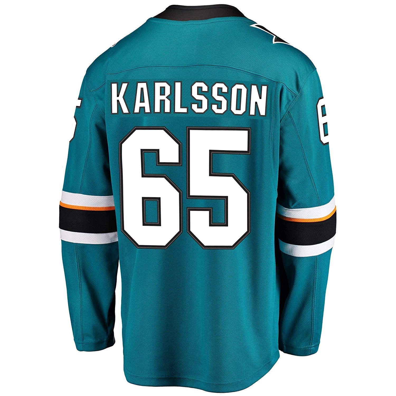 Mens//Womens//Youth/_Sharks/_#65/_Erik/_Karlsson/_Teal Hockey Jersey