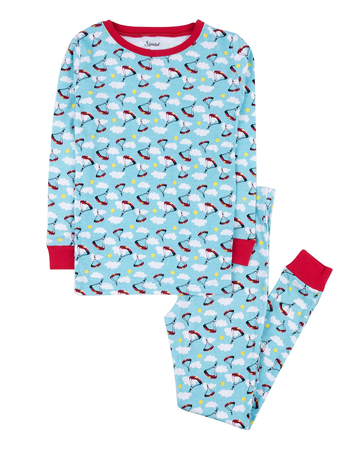 Leveret Kids /& Toddler Pajamas Boys Girls Unisex 2 Piece Pjs Set 100/% Cotton Sleepwear 12 Months-14 Years