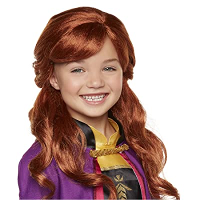 "Disney Frozen 2 Anna Wig, 18"" Long Flowing Red Hair with Braid Detail for Girls Costume, Dress Up or Halloween - For Ages 3+: Toys & Games"