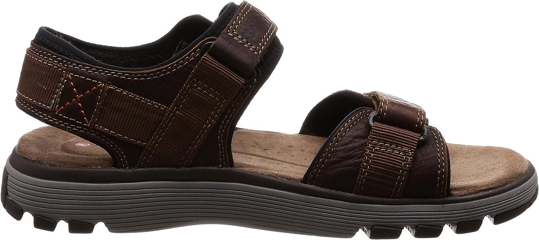 Mens Clarks Casual Open Toe Hook /& Loop Strapped Leather Sandals Un Trek Part