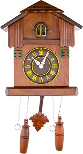 CLEVER GARDEN Large Wooden Traditional Cuckoo Clock House