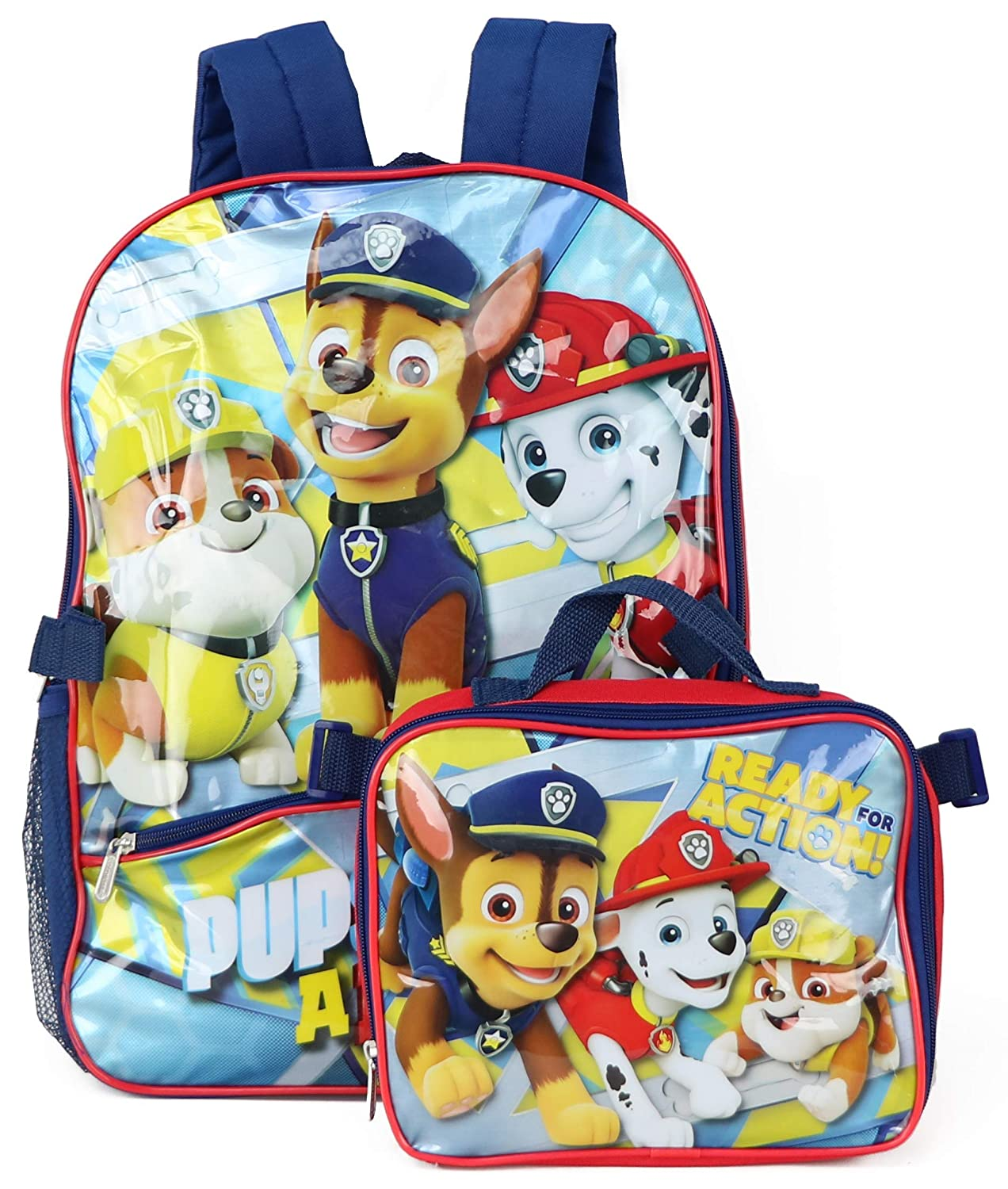 Nickelodeon Boys' Paw Patrol Backpack with Lunch Red