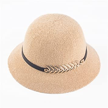 49ff3ea6d140e Eric Hug hat Sun caps Ribbon Round Flat Top Straw Fedora Panama Hat Summer  Hats for