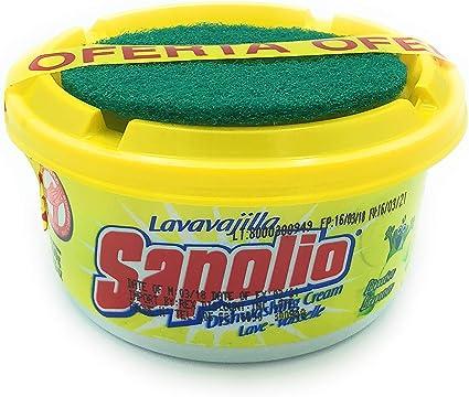 Amazon.com: Sapolio lavavajilla limón + esponja/pasta de ...