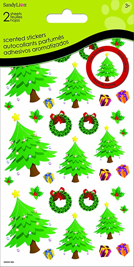 Amazon Sandylion Christmas Tree Scented Stickers For Scrapbooking