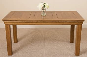 6 Seater Oak Dining Table 5ft Solid Rustic Oak Wood Kitchen Dining