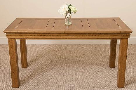 Tavolo Da Pranzo In Francese : Oak furniture king tavolo da pranzo rustico in legno massiccio di