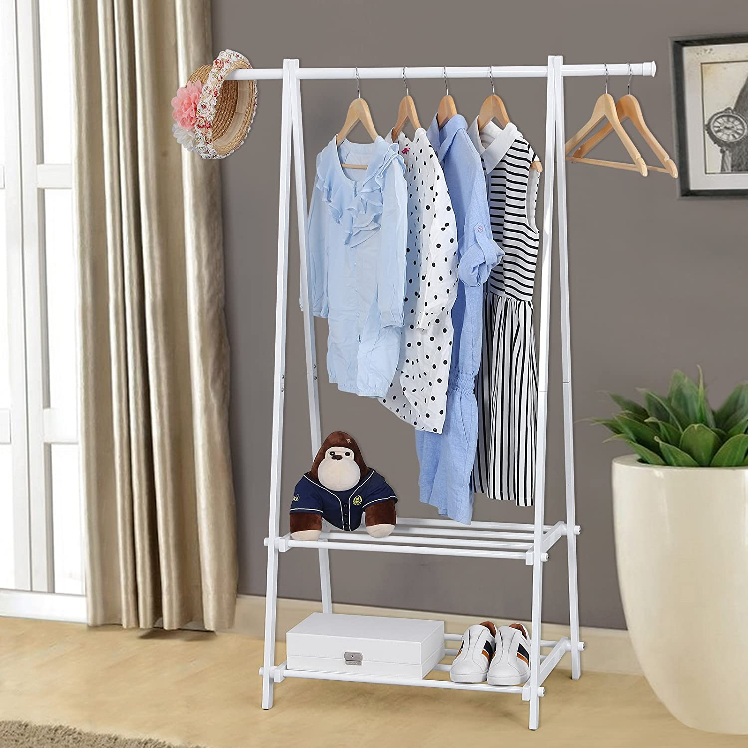 hanging hanger pin closet portable rack drying garment clothes