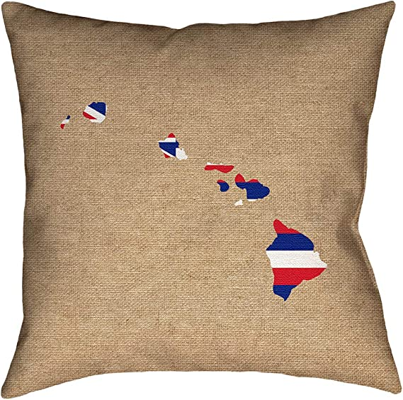 ArtVerse Katelyn Smith Oklahoma Watercolor Pillow