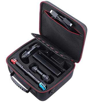 MPTECK @ Funda Carcasa Rígida de Viaje Transporte Estuche Dura para Nintendo Switch Consola Adaptador AC Joy-con Grip Pro Controller Cable HDMI Joy-con y ...