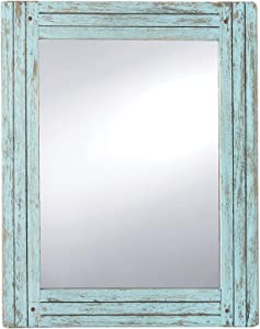 Foreside Home & Garden FMIR06224 Heartland Mirror Blue