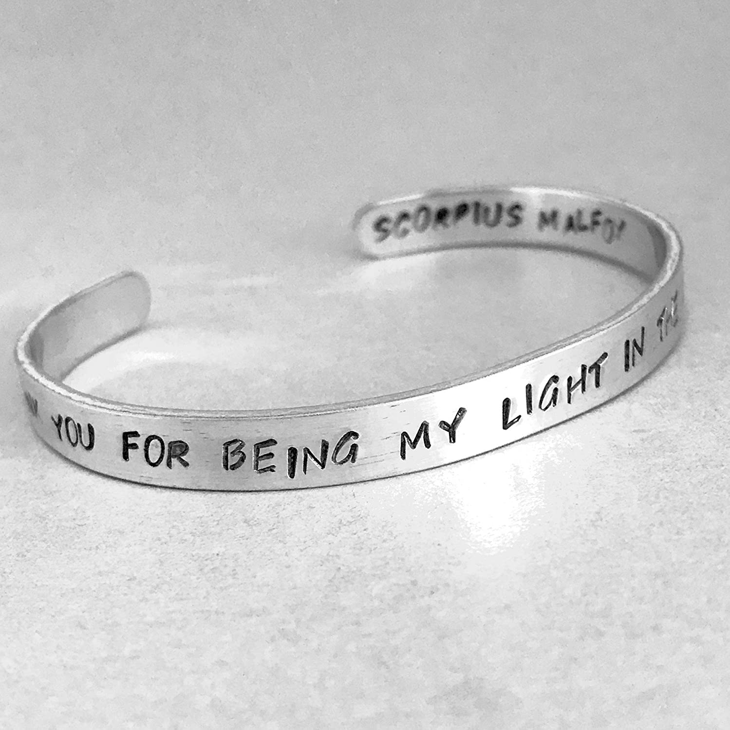 Harry Potter Cursed Child Bracelet - Thank You For Being My Light In the Darkness - Scorpius Malfoy