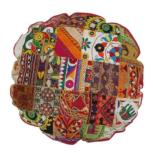 Caso Ronda de almohada de algodón Diámetro Cojín india ...