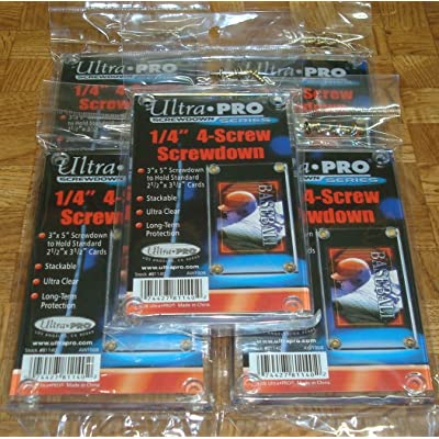 "Ultra Pro 1/4"" 4-Screw Recessed Holder - Pack of 5 - 81140: Sports & Outdoors"