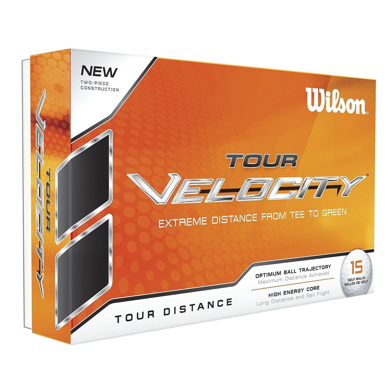Wilson Staff, Bola de golf blanda, 2 capas, Hombre, Para mejor sensación de la bola y máxima distancia, Pack de 15, Baja compresión, Cobertura de ionómero, ...