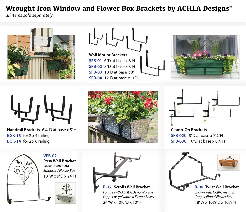 Amazon Achla Designs Wrought Iron Scrolls Window Flower Box